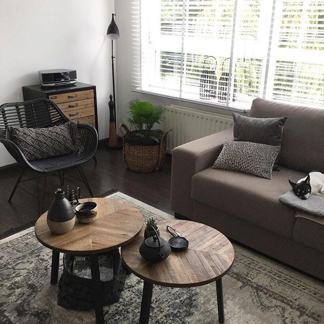 Zithoek woonkamer bank salontafel