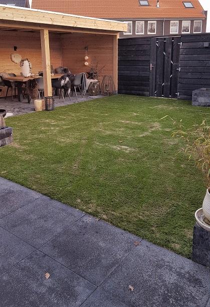 kunstgras achtertuin