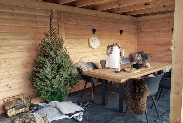 Kerst in de veranda