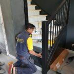 Traprenovatie upstairs huizedop