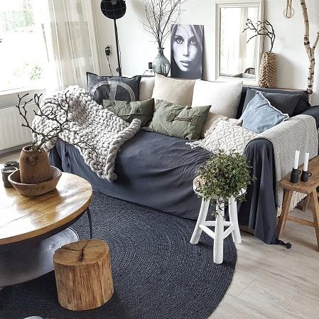 loungebank met grand foulard