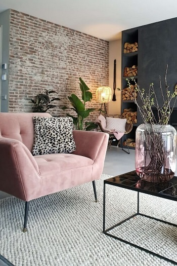 roze stoel interieur inspiratie