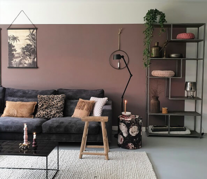 Een Nieuwe Kleur Op De Muur In De Woonkamer Huizedop