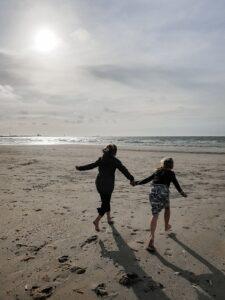 uitwaaien op het strand