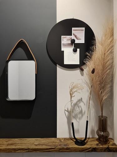 wanddecoratie magneetbord spiegel huizedop collectie