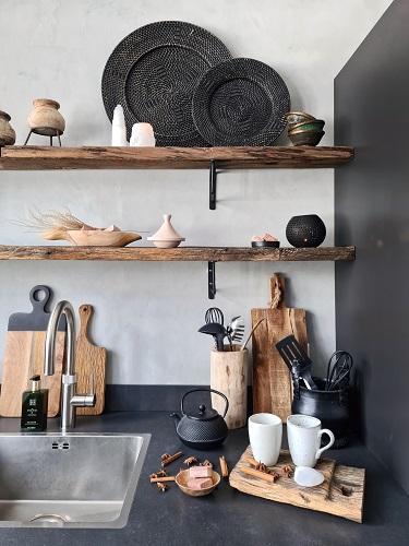 keukenplanken en betonlook keukenaccessoires