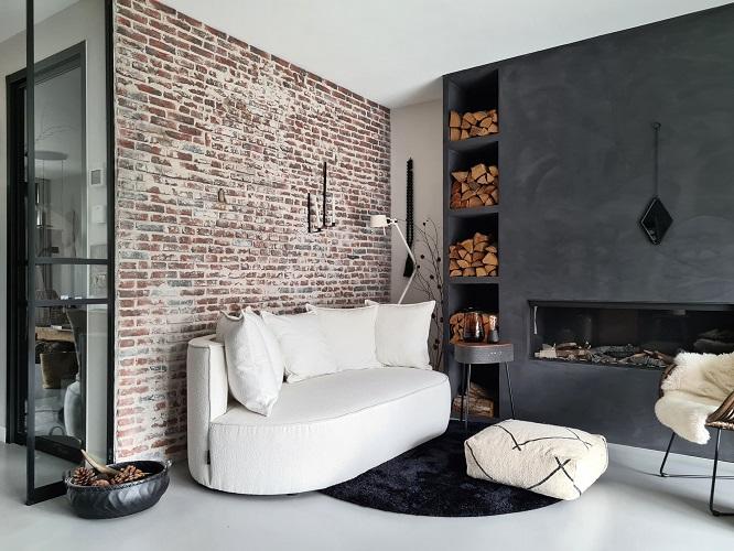 bakstenen muur interieur inspiratie