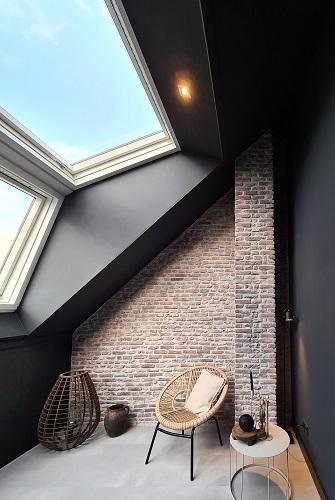 zolderkamer brickwall bakstenen muur