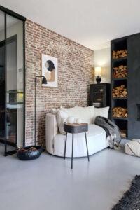 brickwall woonkameridee ronde bank